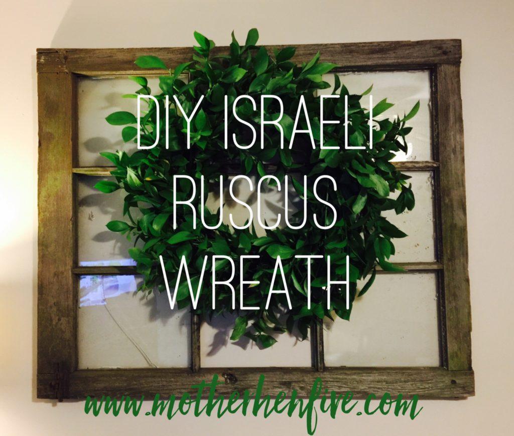 Israeli Ruscus Wreath MOTHER HEN FIVE